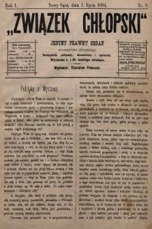 Związek Chłopski : jedyny prawny organ stronnictwa chłopskiego : pismo polityczne, ekonomiczne i społeczne. 1894, nr9