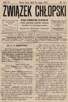 Związek Chłopski : organ stronnictwa chłopskiego. 1897, nr14
