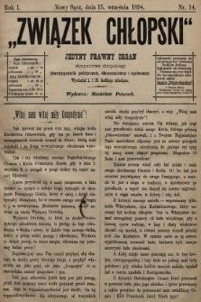 Związek Chłopski : jedyny prawny organ stronnictwa chłopskiego : pismo polityczne, ekonomiczne i społeczne. 1894, nr14