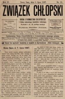 Związek Chłopski : organ stronnictwa chłopskiego. 1897, nr19