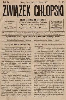 Związek Chłopski : organ stronnictwa chłopskiego. 1897, nr20