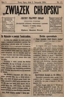 Związek Chłopski : organ stronnictwa chłopskiego. 1894, nr17