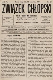 Związek Chłopski : organ stronnictwa chłopskiego. 1897, nr25