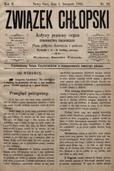 Związek Chłopski : organ stronnictwa chłopskiego. 1894, nr28
