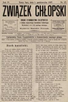 Związek Chłopski : organ stronnictwa chłopskiego. 1897, nr27