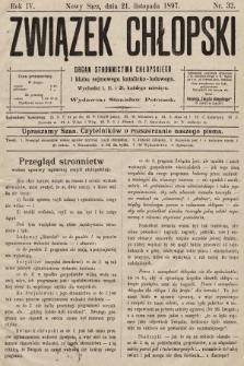 Związek Chłopski : organ stronnictwa chłopskiego. 1897, nr32