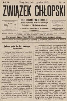 Związek Chłopski : organ stronnictwa chłopskiego. 1897, nr33