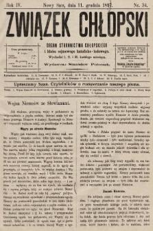 Związek Chłopski : organ stronnictwa chłopskiego. 1897, nr34
