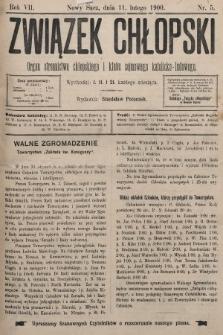 Związek Chłopski : organ stronnictwa chłopskiego i klubu sejmowego katolicko-ludowego. 1900, nr5