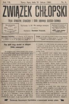 Związek Chłopski : organ stronnictwa chłopskiego i klubu sejmowego katolicko-ludowego. 1900, nr6