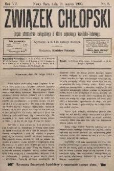 Związek Chłopski : organ stronnictwa chłopskiego i klubu sejmowego katolicko-ludowego. 1900, nr8