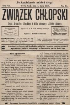Związek Chłopski : organ stronnictwa chłopskiego i klubu sejmowego katolicko-ludowego. 1900, nr19