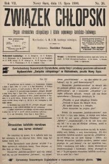Związek Chłopski : organ stronnictwa chłopskiego i klubu sejmowego katolicko-ludowego. 1900, nr20