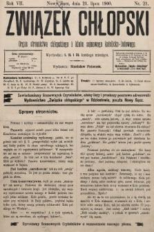 Związek Chłopski : organ stronnictwa chłopskiego i klubu sejmowego katolicko-ludowego. 1900, nr21