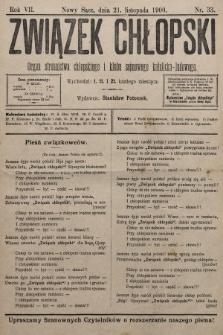 Związek Chłopski : organ stronnictwa chłopskiego i klubu sejmowego katolicko-ludowego. 1900, nr33