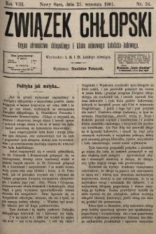 Związek Chłopski : organ stronnictwa chłopskiego i klubu sejmowego katolicko-ludowego. 1901, nr24