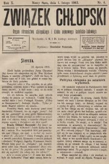 Związek Chłopski : organ stronnictwa chłopskiego i klubu sejmowego katolicko-ludowego. 1903, nr4