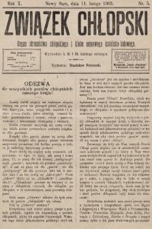 Związek Chłopski : organ stronnictwa chłopskiego i klubu sejmowego katolicko-ludowego. 1903, nr5