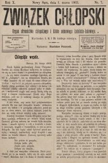 Związek Chłopski : organ stronnictwa chłopskiego i klubu sejmowego katolicko-ludowego. 1903, nr7