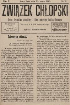 Związek Chłopski : organ stronnictwa chłopskiego i klubu sejmowego katolicko-ludowego. 1903, nr8