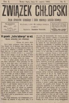 Związek Chłopski : organ stronnictwa chłopskiego i klubu sejmowego katolicko-ludowego. 1903, nr9