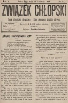 Związek Chłopski : organ stronnictwa chłopskiego i klubu sejmowego katolicko-ludowego. 1903, nr11