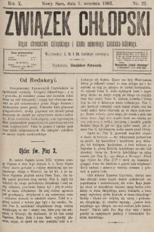 Związek Chłopski : organ stronnictwa chłopskiego i klubu sejmowego katolicko-ludowego. 1903, nr22