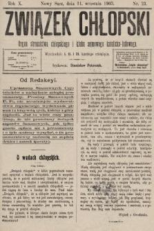 Związek Chłopski : organ stronnictwa chłopskiego i klubu sejmowego katolicko-ludowego. 1903, nr23