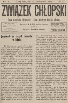 Związek Chłopski : organ stronnictwa chłopskiego i klubu sejmowego katolicko-ludowego. 1903, nr27