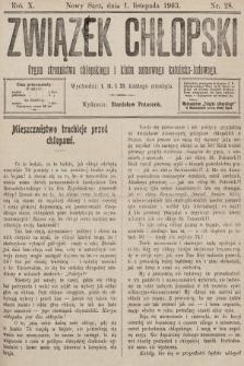 Związek Chłopski : organ stronnictwa chłopskiego i klubu sejmowego katolicko-ludowego. 1903, nr28