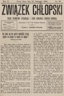 Związek Chłopski : organ stronnictwa chłopskiego i klubu sejmowego katolicko-ludowego. 1903, nr30