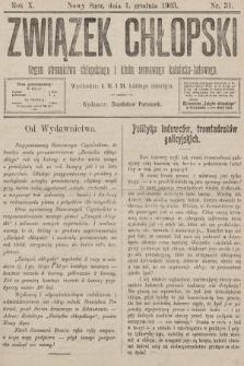 Związek Chłopski : organ stronnictwa chłopskiego i klubu sejmowego katolicko-ludowego. 1903, nr31