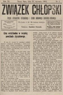Związek Chłopski : organ stronnictwa chłopskiego i klubu sejmowego katolicko-ludowego. 1904, nr3