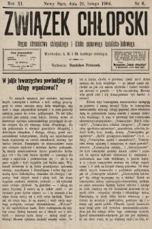 Związek Chłopski : organ stronnictwa chłopskiego i klubu sejmowego katolicko-ludowego. 1904, nr6