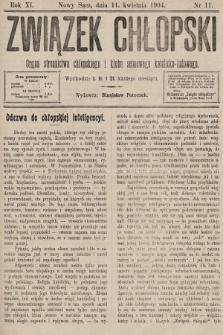 Związek Chłopski : organ stronnictwa chłopskiego i klubu sejmowego katolicko-ludowego. 1904, nr11