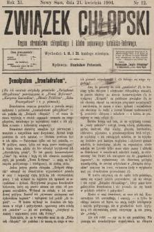 Związek Chłopski : organ stronnictwa chłopskiego i klubu sejmowego katolicko-ludowego. 1904, nr12