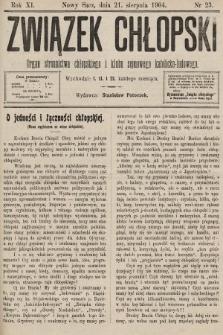 Związek Chłopski : organ stronnictwa chłopskiego i klubu sejmowego katolicko-ludowego. 1904, nr23