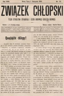 Związek Chłopski : organ stronnictwa chłopskiego i klubu sejmowego katolicko-ludowego. 1906, nr25