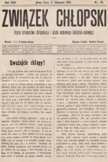 Związek Chłopski : organ stronnictwa chłopskiego i klubu sejmowego katolicko-ludowego. 1906, nr26