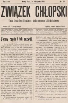 Związek Chłopski : organ stronnictwa chłopskiego i klubu sejmowego katolicko-ludowego. 1906, nr27