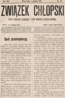 Związek Chłopski : organ stronnictwa chłopskiego i klubu sejmowego katolicko-ludowego. 1906, nr28