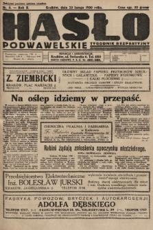 Hasło Podwawelskie : tygodnik bezpartyjny. 1930, nr8