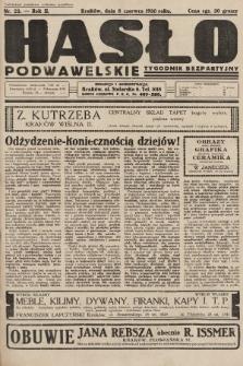 Hasło Podwawelskie : tygodnik bezpartyjny. 1930, nr23
