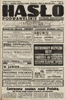 Hasło Podwawelskie : tygodnik bezpartyjny. 1931, nr18
