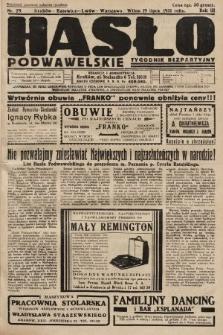 Hasło Podwawelskie : tygodnik bezpartyjny. 1931, nr29