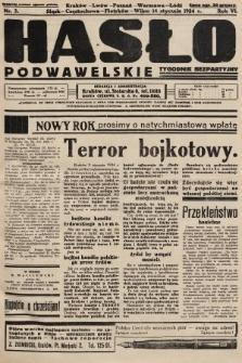 Hasło Podwawelskie : tygodnik bezpartyjny. 1934, nr3