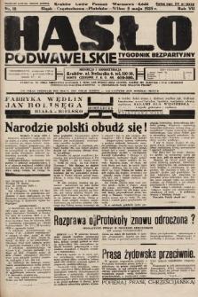 Hasło Podwawelskie : tygodnik bezpartyjny. 1935, nr18
