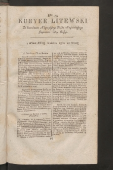 Kuryer Litewski. 1800, nr33