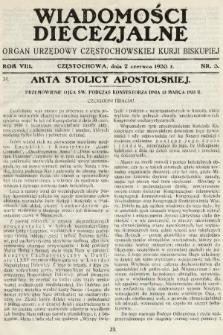 Wiadomości Diecezjalne : organ urzędowy Częstochowskiej Kurji Biskupiej. 1933, nr3