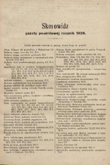 Gazeta Powiatowa Powiatu Świętochłowickiego = Kreisblattdes Kreises Świętochłowice. 1929, skorowidz rocznik 1928
